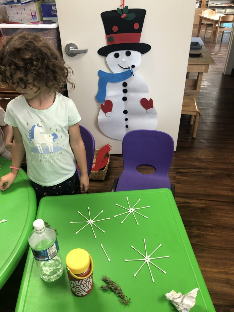 Enrichment program kids enjoying snow related activities